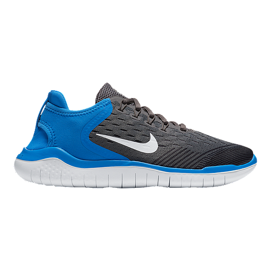 more photos b157f 47401 Nike Kids' Free Run 2018 Grade School Shoes - White/Blue ...