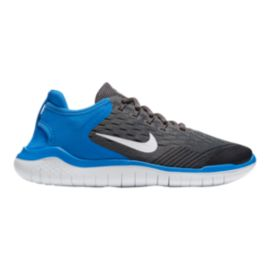 Nike Kids' Free Run 2018 Grade School Shoes - White/Blue/Thunder