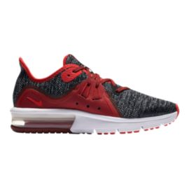 Nike Girls' Air Max Sequent 3 Grade School Shoes - Black/Red/White
