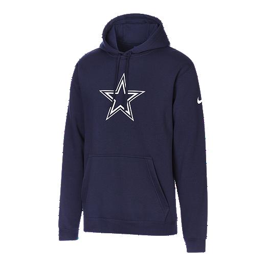 info for a8f20 6430d Dallas Cowboys Men's Nike Club Fleece Pullover Hoodie