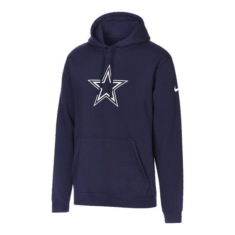 info for bd04f d2bd3 Dallas Cowboys Men's Nike Club Fleece Pullover Hoodie