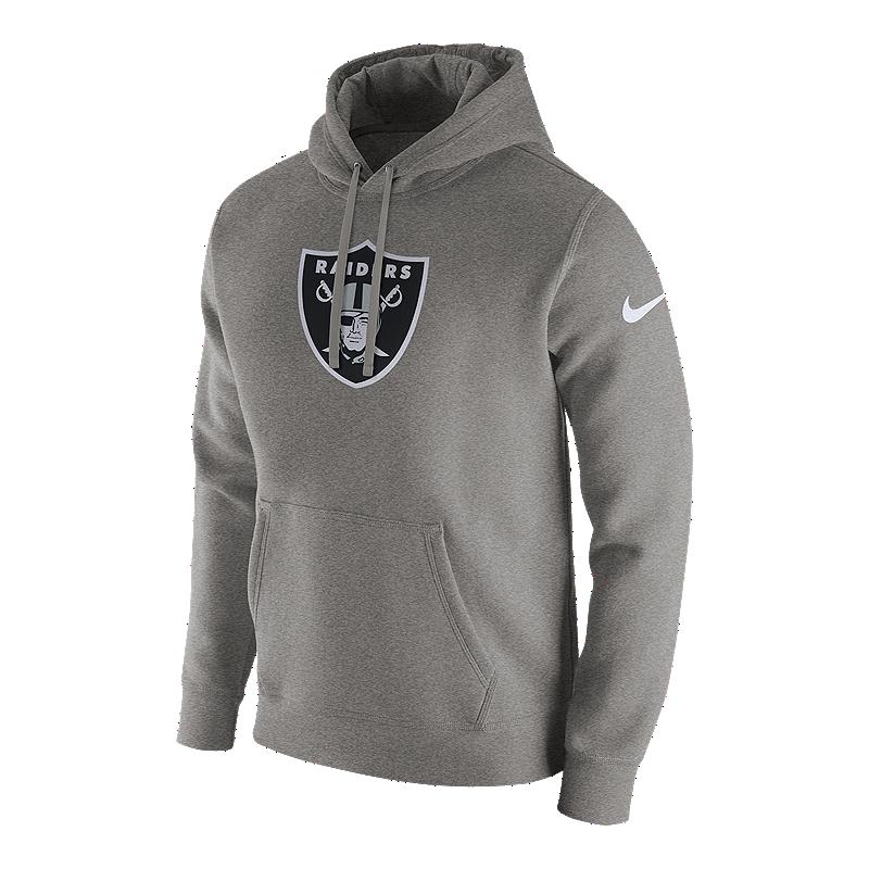 dac3ec461 Oakland Raiders Nike Men s Club Fleece Pull Over Hoodie