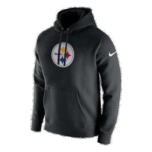 brand new 6fb56 6535d Pittsburgh Steelers Nike Men's Club Fleece Pull Over Hoodie