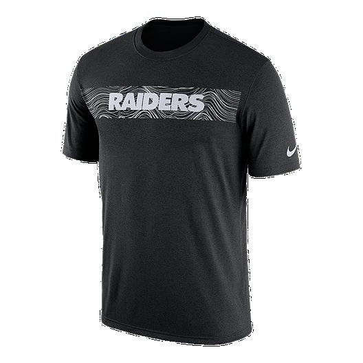 online retailer 942a8 b471e Oakland Raiders Nike Men's Seismic Sideline T-Shirt