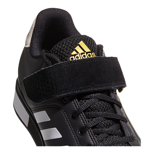 online retailer bc9b0 96573 adidas Men s Power Perfect III Weightlifting Shoes - Black White Gold