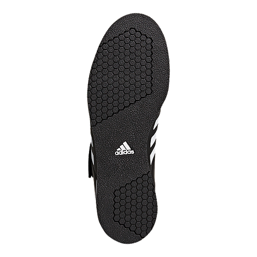 adidas Men's Power Perfect III Weightlifting Shoes BlackWhiteGold