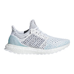 adidas Kids' Ultraboost Parley Grade School Running Shoes - White/Blue