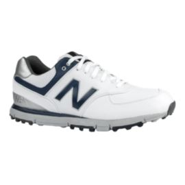 New Balance Golf Men's 574 SL Golf Shoes - White/Navy