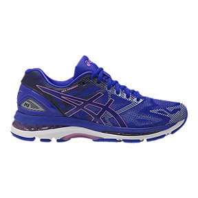 ASICS Women's GEL-Nimbus 19 Running Shoes - Blue/Purple/Volt