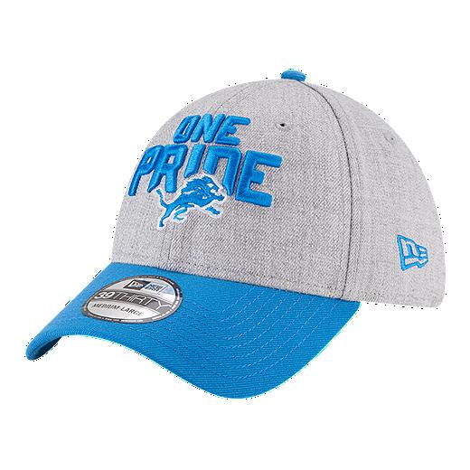 premium selection 24535 ec5a1 Detroit Lions New Era Men s 3930 On Stage Draft Hat - BLUE
