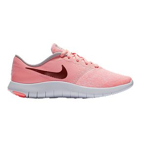 4b1ceade2eee Nike Girls  Flex Contact Grade School Shoes - Pink Rose Gold