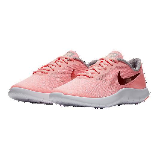 tout neuf 69626 11513 Nike Girls' Flex Contact Grade School Shoes - Pink/Rose/Gold