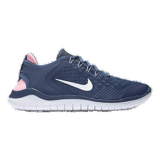 511382906d66 Nike Girls  Free Run 2018 Grade School Shoes - Blue White Slate ...
