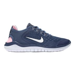 3f831d2b7f88b Nike Girls  Free Run 2018 Grade School Shoes - Blue White Slate