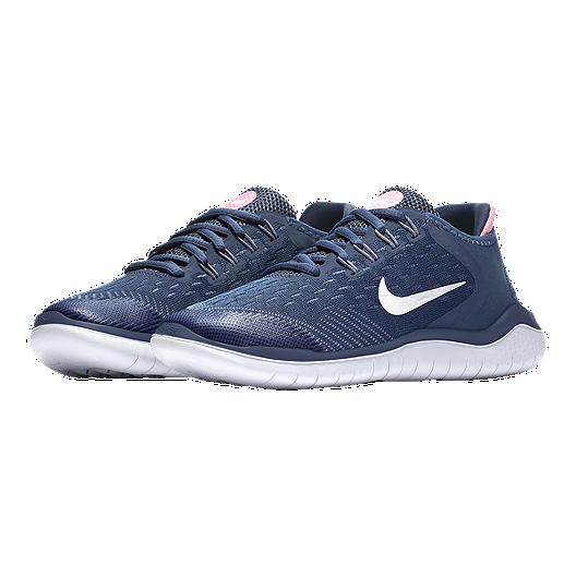 c6632c492768b Nike Girls  Free Run 2018 Grade School Shoes - Blue White Slate ...