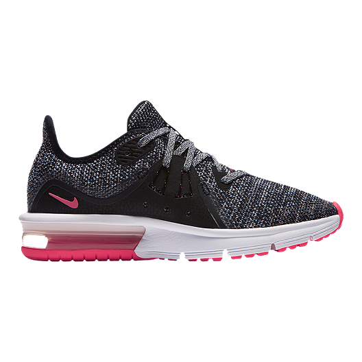 new styles d6b5e bd658 Nike Girls  Air Max Sequent 3 Grade School Shoes - Black White Pink   Sport  Chek