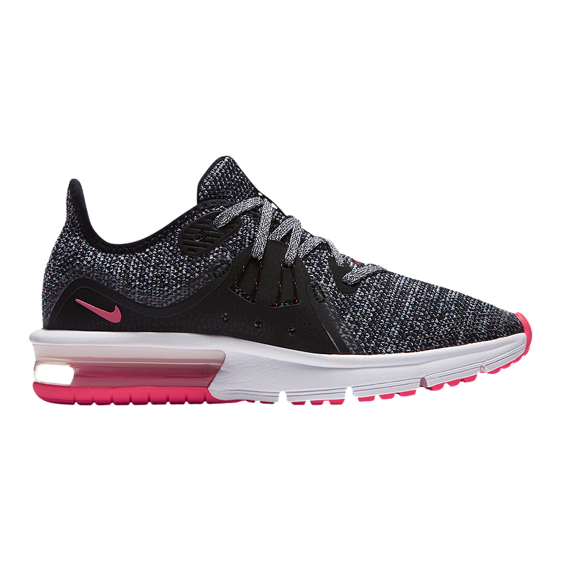 new styles 24b0c 83cb8 Nike Girls  Air Max Sequent 3 Grade School Shoes - Black White Pink   Sport  Chek