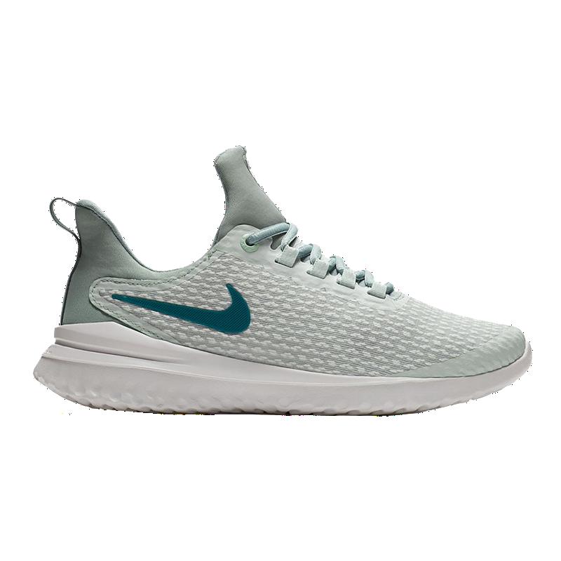 e753a25e1b37 Nike Women s Renew Rival Running Shoes - White Metallic Blue