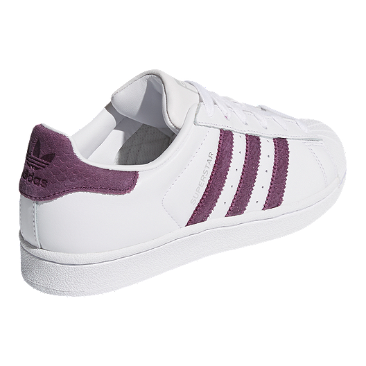 new style b3a05 a2bb6 adidas Women's Superstar Shoes - White/Red Night/Silver