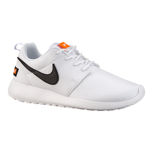 0c2302a3b92b Nike Women s Roshe One Premium Shoes - White Orange Black