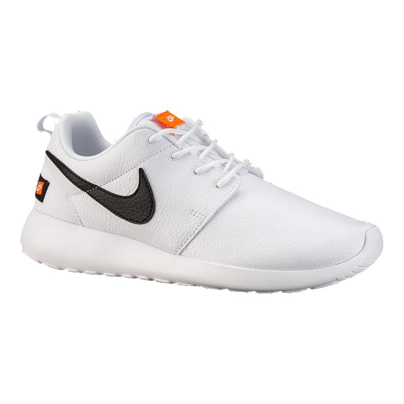 94cbd4329db Nike Women s Roshe One Premium Shoes - White Orange Black