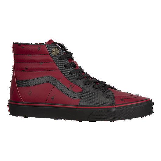 735e806cf850 Vans Men s Sk8-HI Marvel Deadpool Shoes - Black