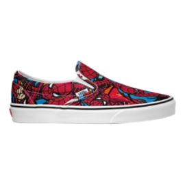Vans Men's Classic Slip On Marvel Spiderman Shoes - Black