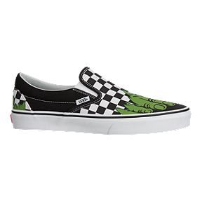 82bf6860cc0a3d Vans Men s Classic Slip On Marvel Hulk Shoes - Checkerboard