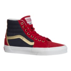 Vans Women's Sk8-HI Marvel Captain Marvel Shoes - Red/Blue/Gold
