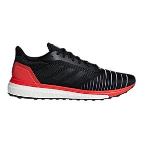 b6447a55033 adidas Men s Solar Drive Running Shoes - Black Red