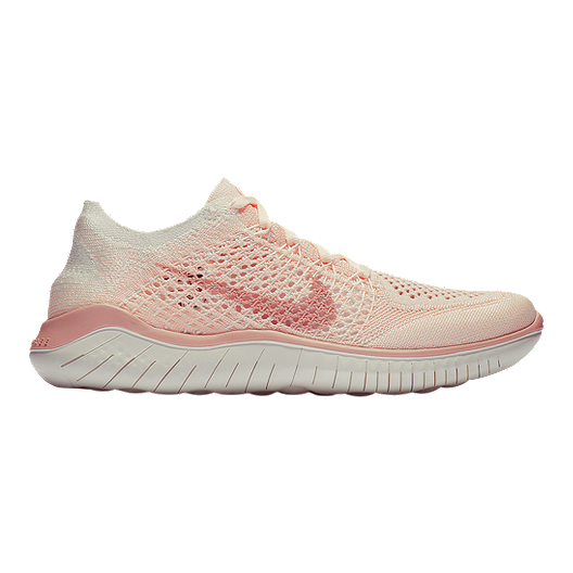 info for ebc23 68854 Nike Women's Free RN Flyknit 2018 Running Shoes - Guava Ice/Beige