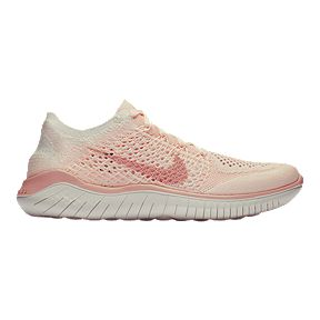 54df7073b97 Nike Women s Free RN Flyknit 2018 Running Shoes - Guava Ice Beige