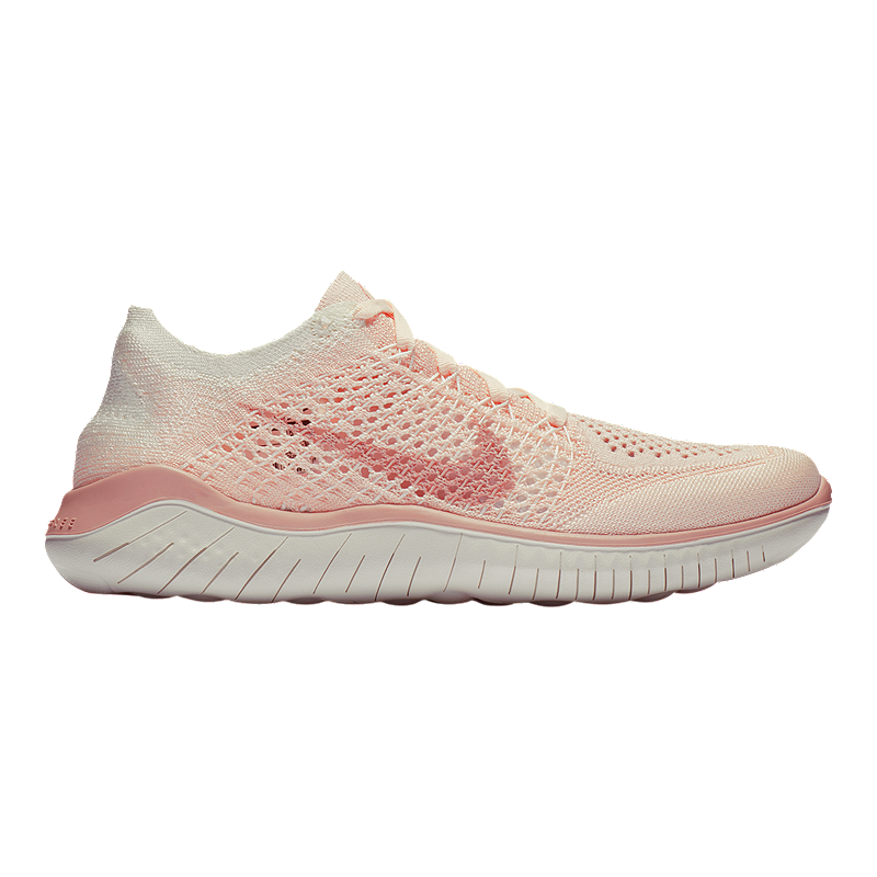 info for d8401 96c5f Nike Women's Free RN Flyknit 2018 Running Shoes - Guava Ice/Beige