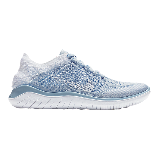 ffd539e5836d0 Nike Women s Free RN Flyknit 2018 Running Shoes - Hydrogen Blue ...