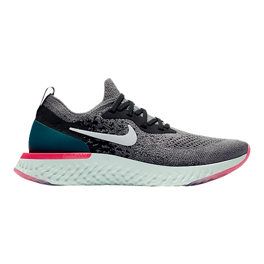 Línea del sitio Puntualidad Visión general  Nike Women's Epic React Flyknit Running Shoes - Gunsmoke/White/Black |  Sport Chek