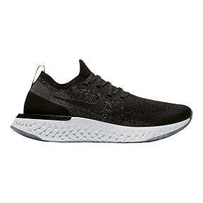 Nike Women's Epic React Flyknit Running Shoes - Black/Dark Grey