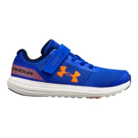 Under Armour Kids' Surge RN AC Preschool Shoes - Royal/White/Magma Orange
