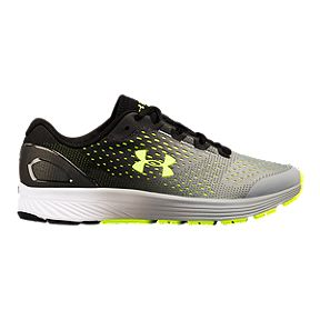 detailed look bbdfc a1b94 Under Armour Boys  Charged Bandit 4 Grade School Running Shoes -  Black Steel Grey