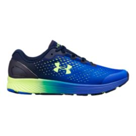 Under Armour Kids' Charged Bandit 4 Grade School Shoes - Royal/Red/Hyper Green
