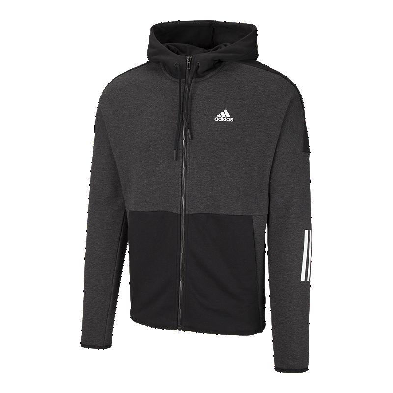 ecd22e9f88486 adidas Men s Sport ID Logo Full Zip Hoodie