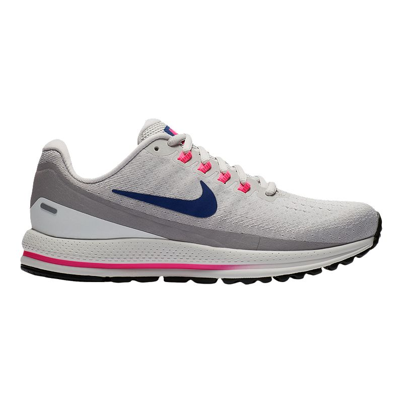 Nike Women s Air Zoom Vomero 13 Running Shoes - Grey Blue (888408330574)  photo 73d5e6b23e