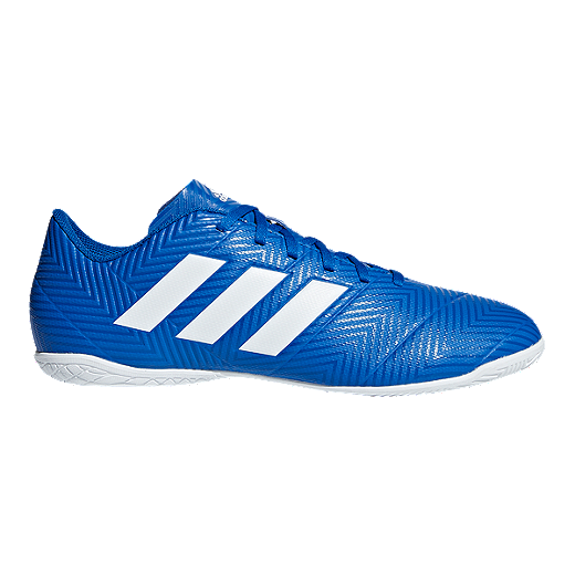 a9ca629f7 adidas Men s Nemeziz Tango 18.4 Indoor Soccer Shoes - Blue White - FOOTBALL  BLUE