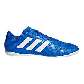 bff49095025 adidas Men s Nemeziz Tango 18.4 Indoor Soccer Shoes - Blue White