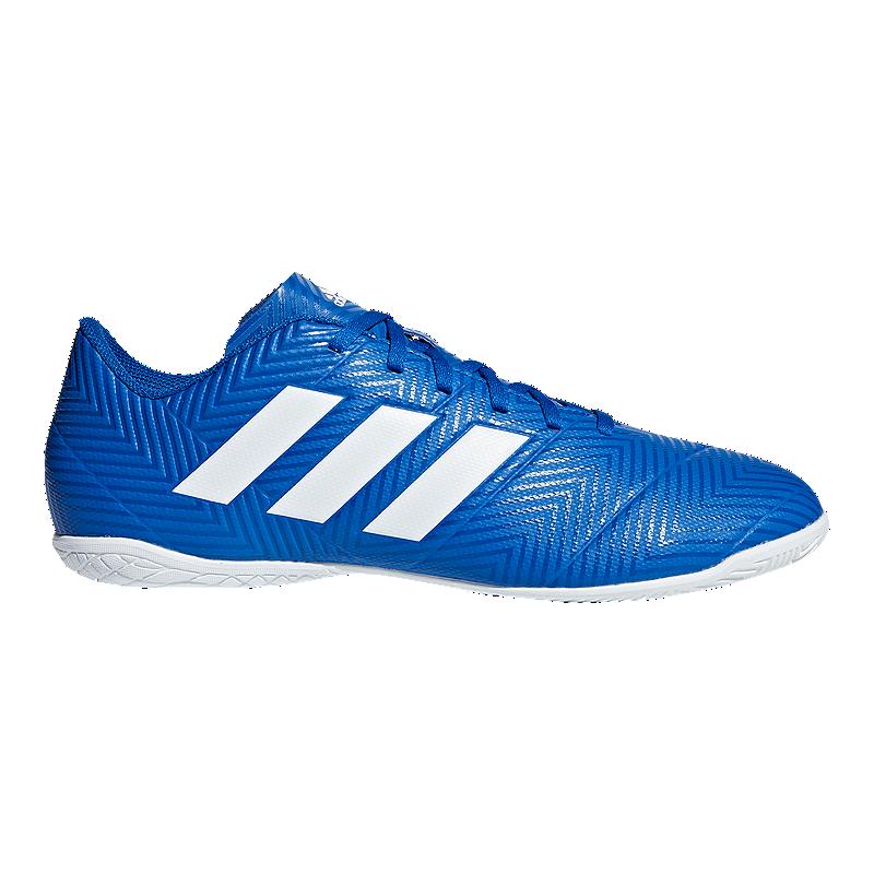ce2ee8c4826 adidas Men s Nemeziz Tango 18.4 Indoor Soccer Shoes - Blue White ...