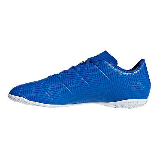 factory price ce0c5 6b21a adidas Men s Nemeziz Tango 18.4 Indoor Soccer Shoes - Blue White