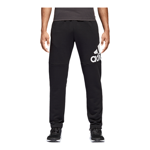a8a45783 adidas Men's Essentials Logo French Terry Pants - BLACK/WHITE