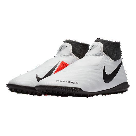 de3b5d1ec6b5c Nike Men's Phantom VSN Academy Indoor Turf Soccer Shoes - Platinum/Red
