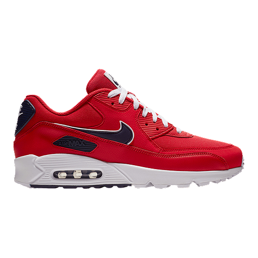 newest 6c5a4 58fc6 Nike Men s Air Max 90 Essential Shoes - Red Blue White   Sport Chek