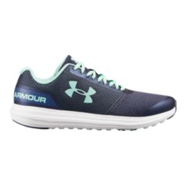 Under Armour Girls' Surge RN Grade School Shoes - Blue/Utility Blue/Crystal