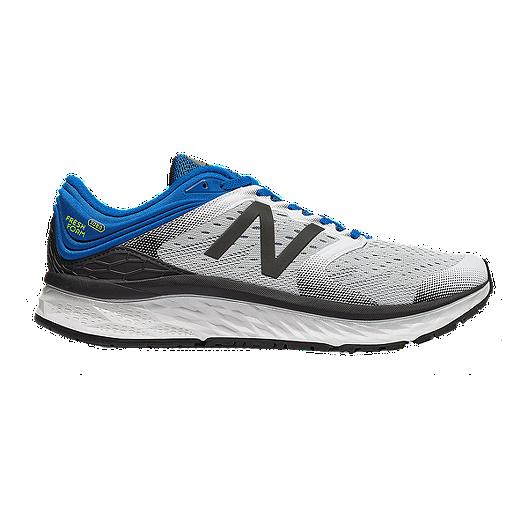 87d31a5bd4c New Balance Men s Fresh Foam 1080 V8 2E Running Shoes - White Blue ...